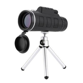 40X60 wysokiej mocy monokularowy teleskop HD Dual Focus zakres monokularowy + statyw + klip + kompas EDF88