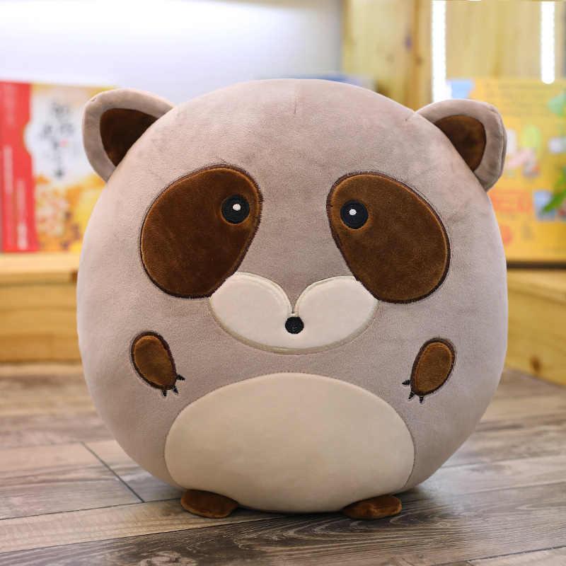 Милая подушка для животных плюшевая мягкая мультяшная круглая подушка плюшевый Лев Бегемот енот свинья, корова игрушка для детей мультфильм Животные игрушки подарок