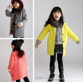 Children Wool Coats For Girls Thicken Warmer Girl Overcoat Plaid Kids Winter Fashion Wool Jackets Baby Girl Clothing