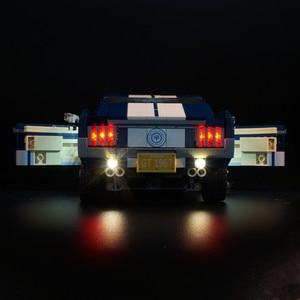 Image 5 - ไฟ LED (รุ่นคลาสสิก) สำหรับ 10265 รถ Ford Mustang Race บล็อกของเล่นของขวัญ