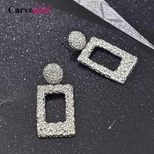 Carvejewl Vintage Earrings rectangle statement new metal Hanging earrings for women jewelry fashion European wholesale
