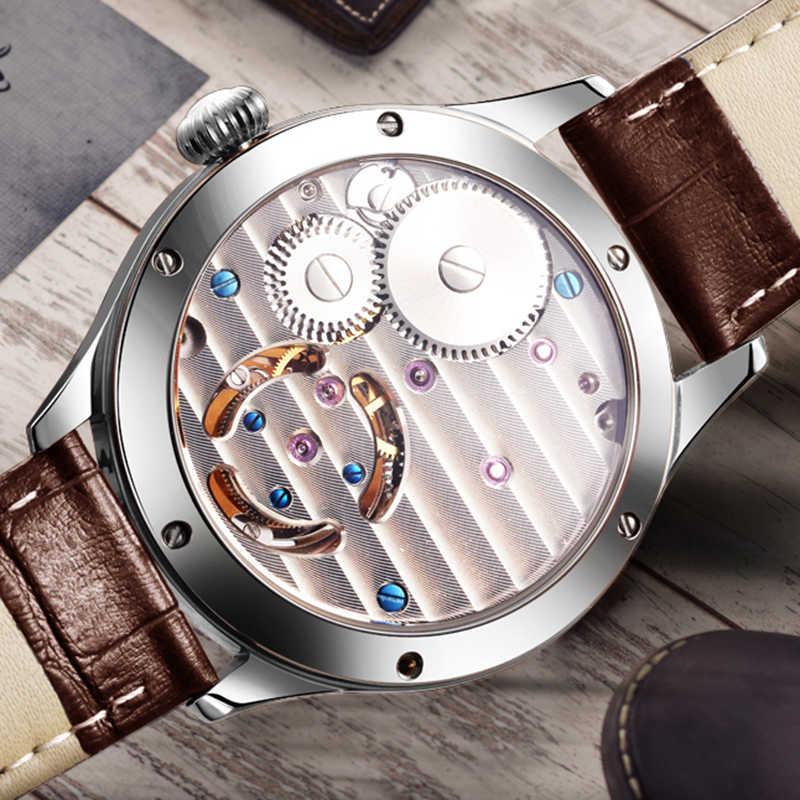 GUANQIN 2020 ريال توربيون اليد الميكانيكية الرياح الرجال الساعات العلامة التجارية الفاخرة الهيكل العظمي ساعة الرجال الياقوت Relogio Masculino