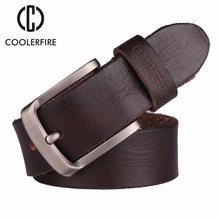 2017 New men belt top full grain 100% real genuine cowskin leather soft jeans TM053