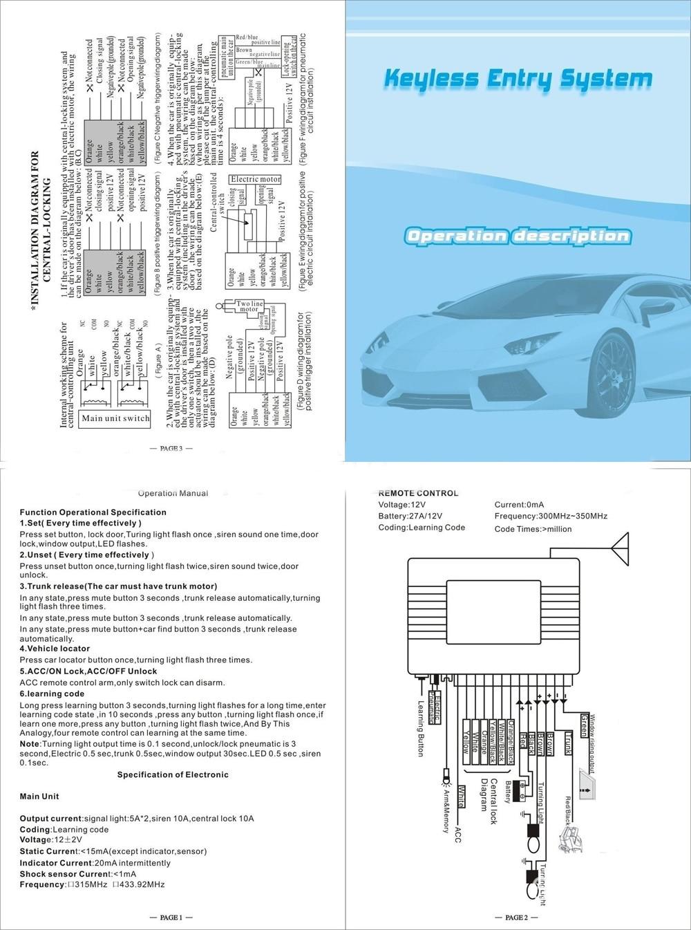 car keyless entry wiring diagram 26680 universal central keyless entry wiring diagram wiring  keyless entry wiring diagram