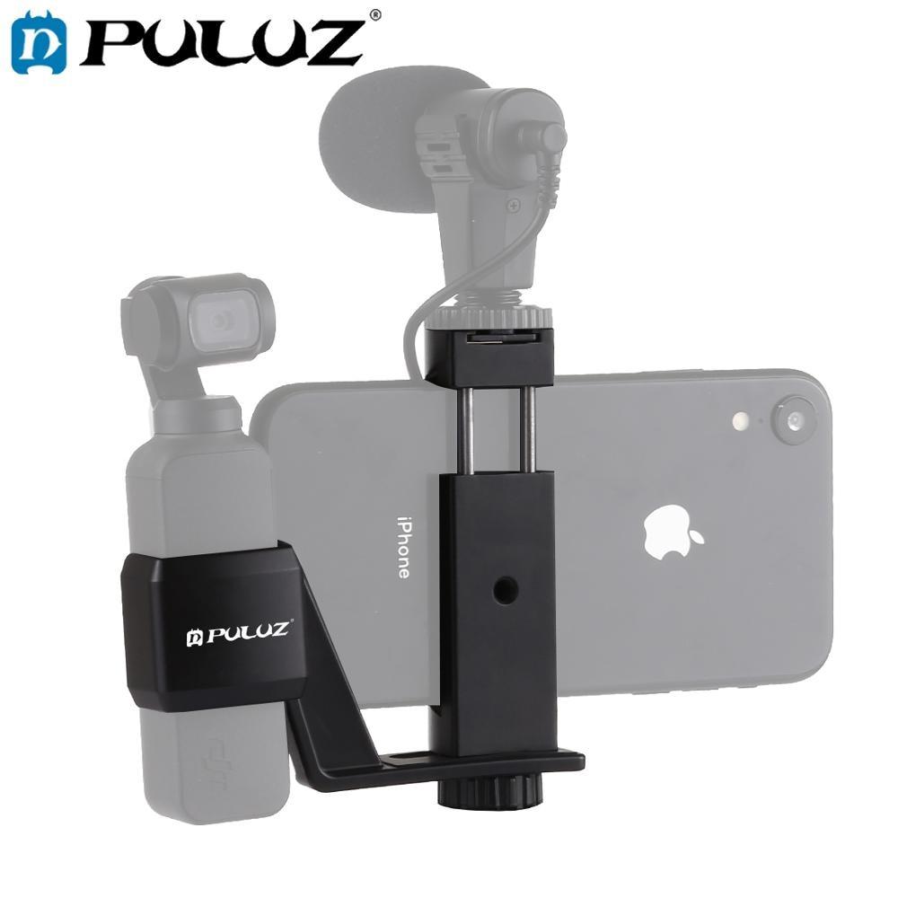 PULUZ del telfono de Metal + montaje de abrazadera de expansin soporte fijo soporte para DJI OSMO bolsillo cardn de mano Accesor