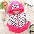 Novo Inverno Crianças baby girl Roupas Outerwear Quente Jaqueta Casaco Bebê Dos Desenhos Animados Crianças parkas Branco E hoodies Roupas Traje