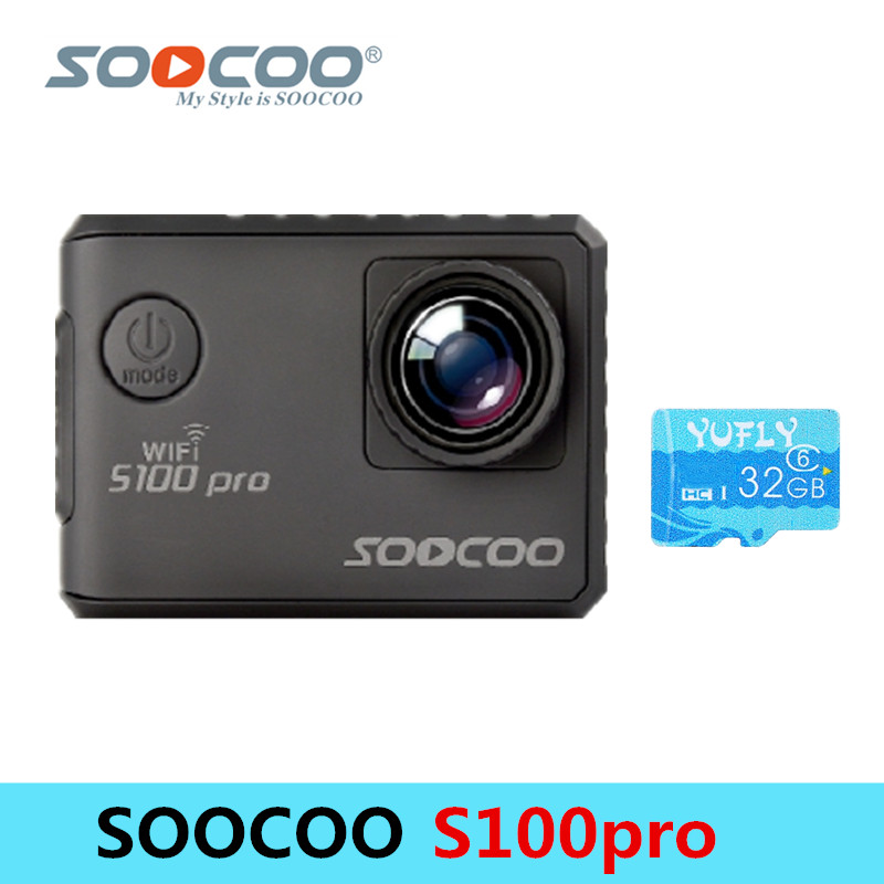 SOOCOO S100PRO 4K Wifi 30M Waterproof Sports Camera Touch Screen with GPS Extension Model Voice Control 1080P HD Action Camera soocoo s100 pro 4k wifi action video camera 2 0 touch screen voice control remote gyro waterproof 30m 1080p full hd sport dv