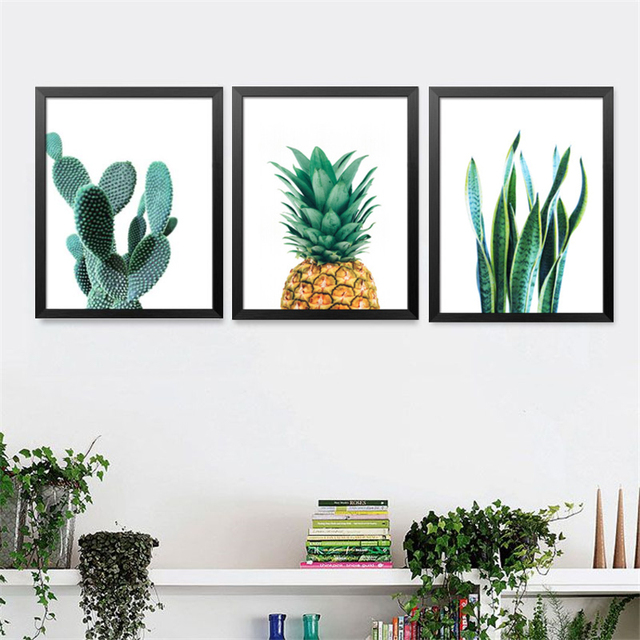 Modern Cactus Pineapple Plants Decorative Painting Wall Painting