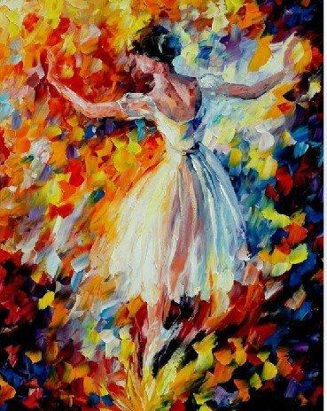 the angel ballerina oil painting on canvas handmade