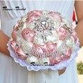Искусственные Шелковые Цветы Букет Пена Розы Свадебный Букет Свадебный Букет Кристалл Свадебные Цветы 2017
