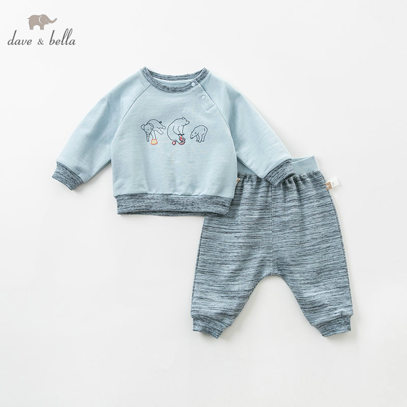 DBA9511 dave bella spring baby boys fashion print clothing sets kids long sleeve sets children 2 pcs suitDBA9511 dave bella spring baby boys fashion print clothing sets kids long sleeve sets children 2 pcs suit