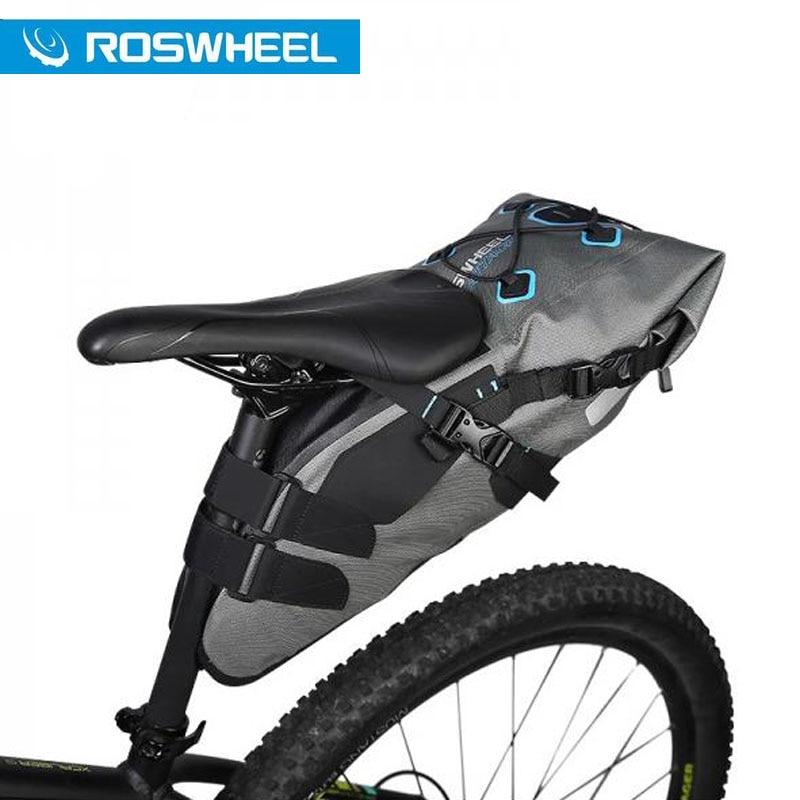 ROSWHEEL ATTACK SERIES Bicycle bags Rainproof Waterproof 7L High Capacity Bike Saddle Tail Bag Full 840D TPU Cycling Equipment exerpeutic 1000 magnetic hig capacity recumbent exercise bike for seniors