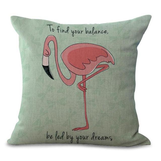 Manufacturers Direct Selling Flamingo Printed Decorative Pillow Best Decorative Pillow Manufacturers