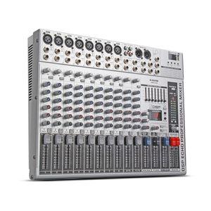 Image 3 - G MARK GMX1200 профессиональный звуковой микшер микшерная консоль dj Studio 12 каналов 8 моно 2 стерео 7 бренда EQ 16 эффект USB bluecabinet