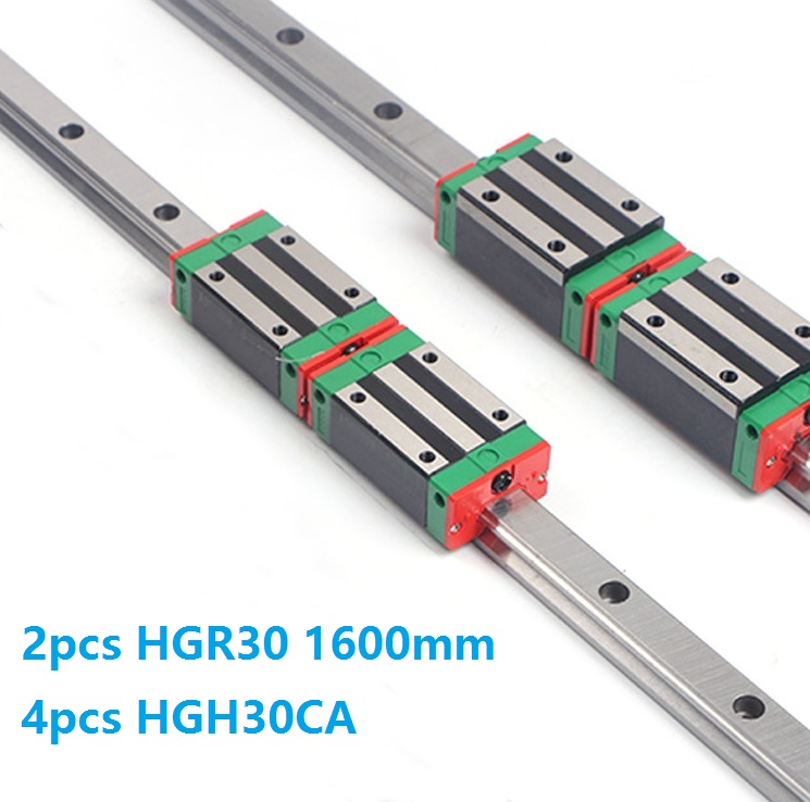 China Made 2pcs Linear Guide Rail HGR30 -L 1600MM + 4pcs HGH30CA Or HGW30CC Block Carriage for CNCChina Made 2pcs Linear Guide Rail HGR30 -L 1600MM + 4pcs HGH30CA Or HGW30CC Block Carriage for CNC