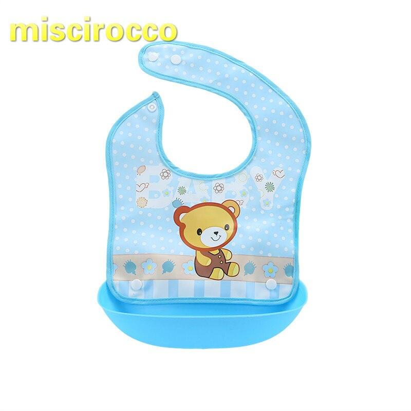 Baby Food Bag Easy To Clean 0-3 Years Old Baby Three-dimensional Cartoon Waterproof Bib Burp Cloths Little Monkey