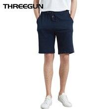 THREEGUN 2019 New Casual Loose Men's Pijama Shorts Soft Boxer Underwear Sleepwear Nightwear Underpants Pyjama Pijama Hombre