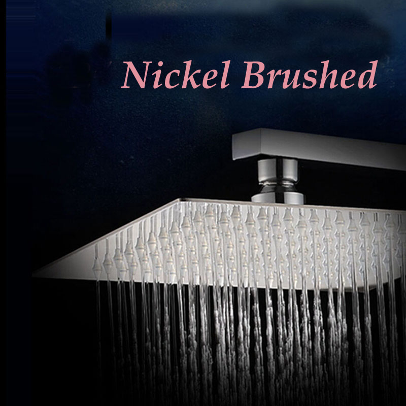 brushed nickel square rain shower head. Wholesale And Retail Luxury Square Brushed Nickel Rain Shower Head Wall  Mounted Ceiling Sprayer Online Get Cheap