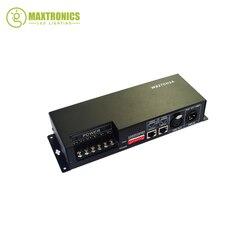 Nowy najlepsza cena 1 sztuk 27 kanałów 9 grupa dekoder dmx 512 led używać do taśmy led w Kontrolery RGB od Lampy i oświetlenie na