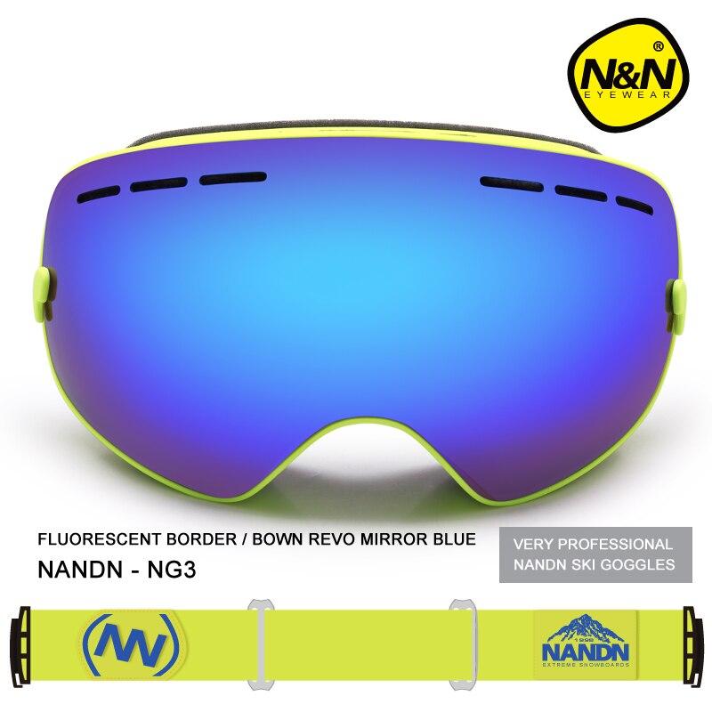 NANDN двойной Слои многоцветный Анти туман наружные спортивные очки с большими для мотокросса и лыж для катания на сноуборде профессиональны... - 6