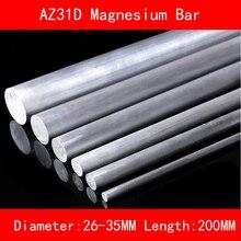 Diameter 26mm 30mm 35mm Length 200mm AZ31D Magnesium Bar Mg Metal rod for DIY Lab Industrial 10pcs zirconium bar rod grade 702 as per astm b550 r60702 35mm diameter x 1000mm
