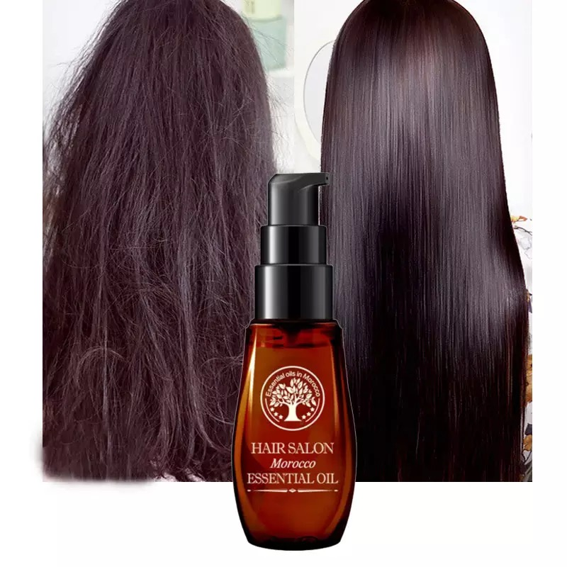 Argan Hair Serum Keratin Oil Treatment Repair Dry Curly Care Hairs Growth Loss Product Mask 40ML Straightening Natural Vitamin P image