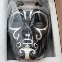 High Quality Harry Potter Death Eater Resin Mask Movie Replica Black Horror Paintball Airsoft Mask Ball