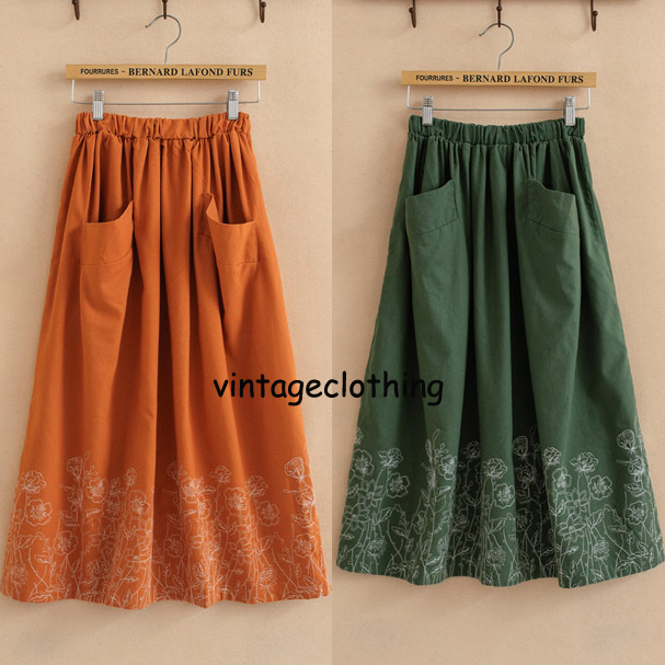 3f885a2e Vintage 70s Hippie Ethnic Floral Embroidery+Pocket desc Maxican MINI  Cocktail Party Skirt Womens Summer Preppy Style Clothing