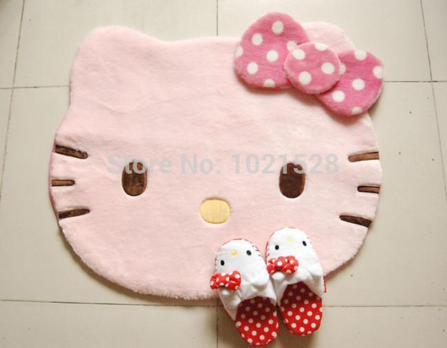 Awesome Large 88x77cm Japan Soft Hello Kitty Pink Doormat Floor Mat Children Room  Decoration KT Rug Carpet