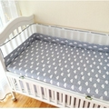 Baby bed bumper 1pcs 16 Styles 2016 new 200*28cm crib around protection 1pcs breathable grid cotton for newborn baby