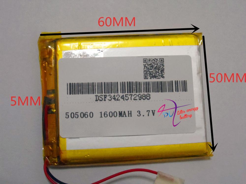 best battery brand Ang VX580LE brand VX580T panels VX580R 505060 3.7V 1600MAH MP3 MP4 MP5 GPS DVD Tablet computer battery
