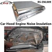RASTP Car Hood Engine Firewall Heat Mat Deadener Sound Insulation Deadening Material Aluminum Foil Sticker 140cm