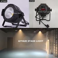 8pcs Theater spotlight led par with curtains cob flood dmx par 200w cob barndoor led par light