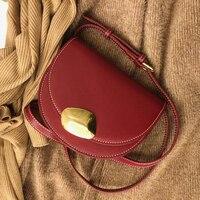 Buckle saddle bag handbag Bags Women 2019 New Fashion Designer Crossbody Bags for Women Messenger Bag Female