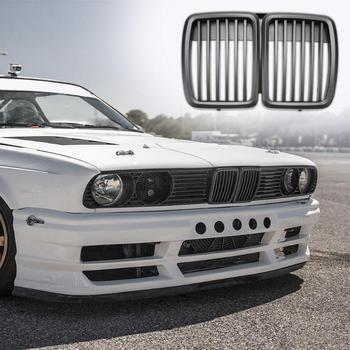 Car Front Kidney Matte Black Grilles for BMW 3-Series E30 82-94 Grilles Styling Accessory Bumper Grille New 1pc image