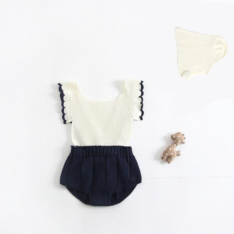 Suéter de Tricô Sem Mangas Bodysuit Roupa Do Bebê Inverno