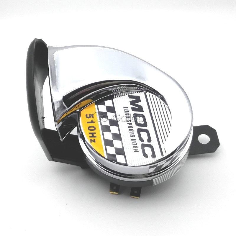 Black 510Hz Motorcycle Horn For Honda Suzuki Kawasaki Yamaha Harley Sport Bike