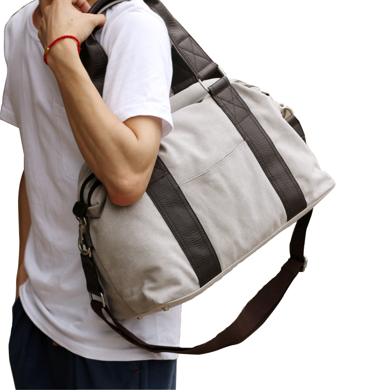 Vintage Crossbody Bag For Men Canvas Shoulder Bags Casual Men Messenger Bag Travel Handbag PT1007