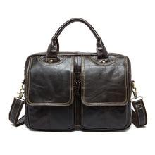 European and American man leather bag briefcase men handbags single shoulder bag Wholesale