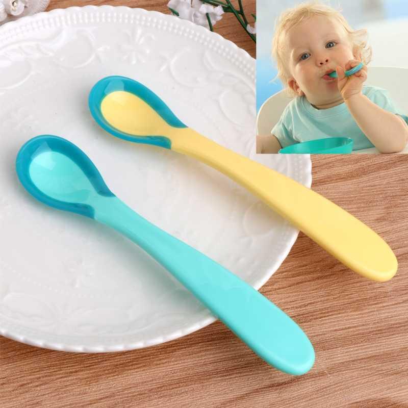 อุณหภูมิความร้อนSensingช้อนทารกความปลอดภัยทารกให้อาหารทารกแรกเกิดเครื่องมือดูแลทารก