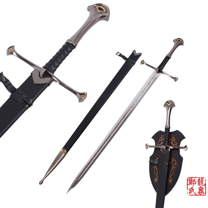영화 반지 Anduril 칼 킹 Elessar 진짜 스테인레스 스틸 매달려 스탠드 중세 칼-에서도검부터 홈 & 가든 의  그룹 1