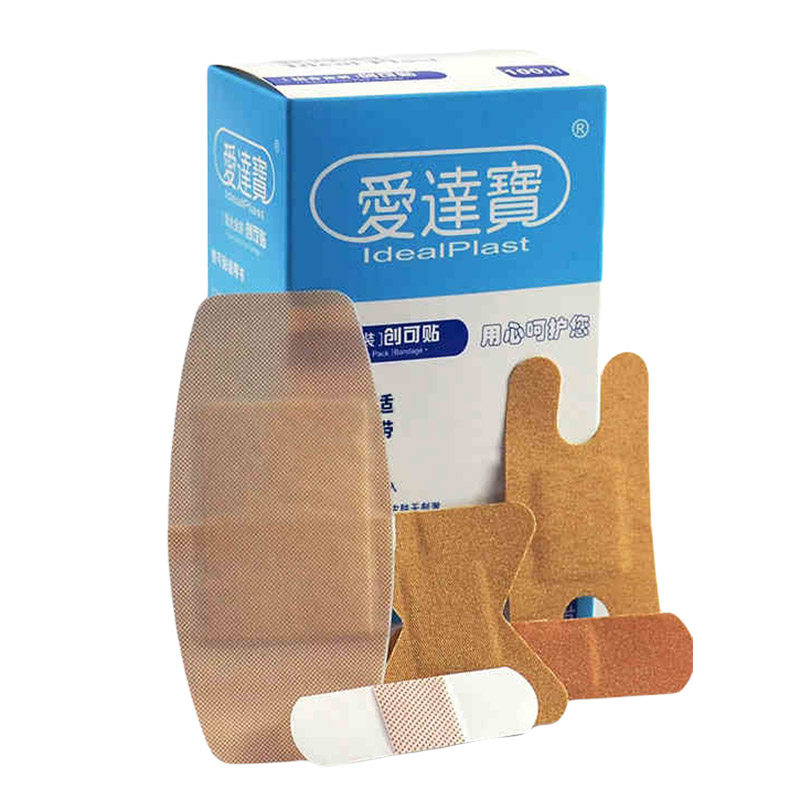 100Pcs Medical Band Aid For Fingertip Joints Large Area Breathable Assorted Supplies 5 Sizes Band-Aids Bandage Set Emergency Kit