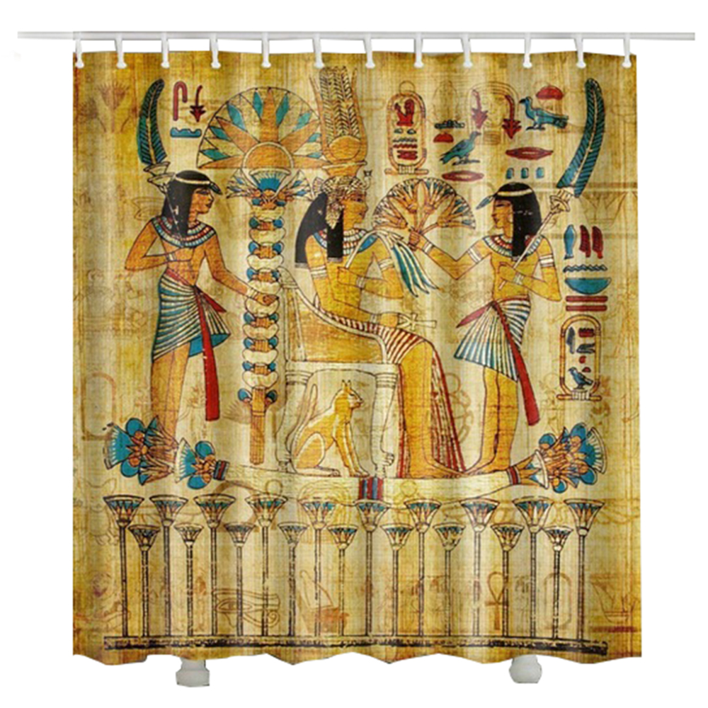Rideau Douche Design Egypt Pharaoh Shower Curtain Waterproof 2017 New Design Hot Sale Rideau Douche Tissus Shower Curtain