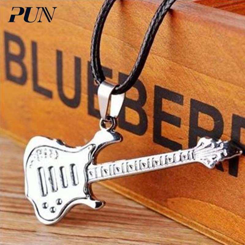 しゃれギター愛のカップルパーソナライズヴィンテージペンダント titanium 鋼ネックレス男性メンズチェーン男性チョーカーネックレスチョーカーチェーン
