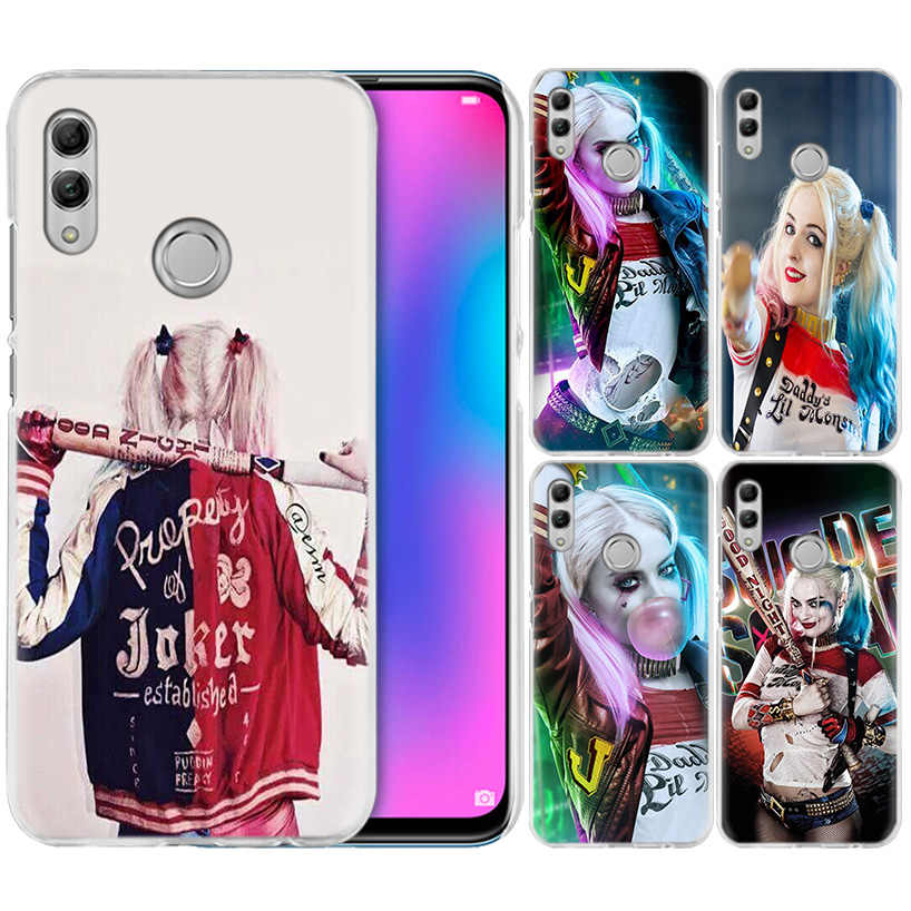 Harley Quinn Suicide Squad Case for Huawei Honor 8X Y9 9 10 Lite Play 8C 8S 8A Pro V20 20i 10i Y6 Y7 2019 Hard PC Phone Cover