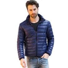 Thin Autumn Winter Warm Man Down Jacket Cotton Padded Parka Stand Collar Zipper Pocket Wadded Coat Handsome Man Boy Male Outwear