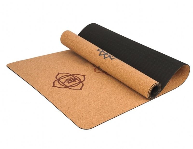 5mm Cork Rubber Yoga Mat For Hot Yoga 3