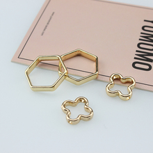 10 pcs korean earrings simple alloy hollow four-leaf clover double piercing statement for women diy jewelry accessories