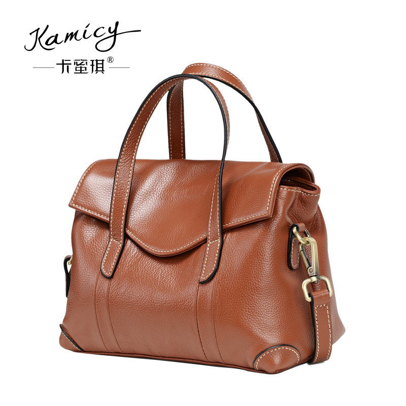 38c22dc385bd Kamicy Women Leather Tote Bag Handbag Lady Purse Shoulder Messenger Satchal  Bags-in Shoulder Bags from Luggage   Bags on Aliexpress.com