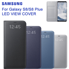 D'origine LED Voir Couverture Smart Cover Téléphone Cas EF-NG955 pour Samsung Galaxy S8 + plus/S8 Avec le Sommeil Fonction, carte de poche